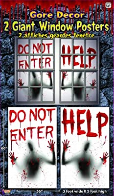 2 Piece Giant Bloody Window Posters Halloween Party Decoration from Forum Novelties