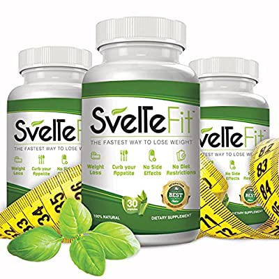 Extreme Weight Loss Pills SvelteFit Appetite Suppressant Fat Burner Supplements for Men and Woman + Detox Senna 5 FREE