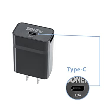 soneic - USB Type-C Cargador + Cable. 15 W/3.0 Amp. Type-C a ...