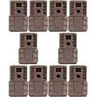 Moultrie A-30 12MP 60 HD Video Low Glow Infrared Game Trail Camera (10 Pack)