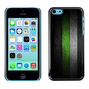 PC/Aluminum Funda Carcasa protectora para Apple Iphone 5C Black & Green Minimalist Pattern / JUSTGO PHONE PROTECTOR