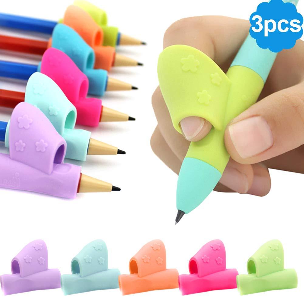 Henreal 3pz/set bambini scrittura correzione della postura dispositivo silicone portamatite penna scrittura aiuti grip Tool Student cancelleria