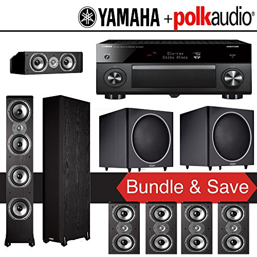 Polk audio tsi 500 7 2 ch home theater speaker system with for Yamaha 7 2 home theatre system