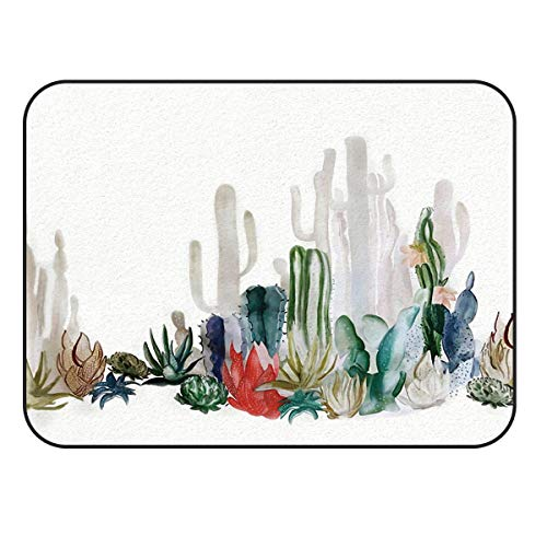 Arts Language Area Rugs for Kids Bedroom Livingroom Chinese Ink and Wash Painting of Catus Children Play Nursery Floor Carpet Non-Slip Mat Office Kitchen Runner Rugs 60x96in -
