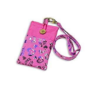 OnlineBestDigital - Colorful Medium Size Sackcloth Neck Phone Bag For Smartphone