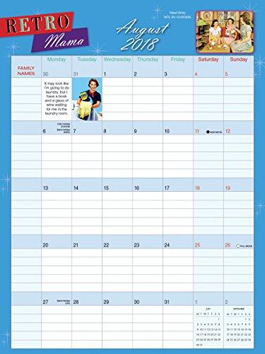 Retro Mama 2018 Wall Planner Calendar (CP0215) Photo #2