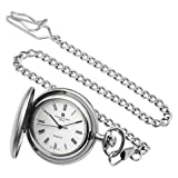 Charles-Hubert, Paris Satin Finish Quartz Pocket Watch