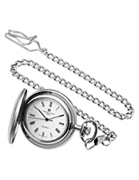 Charles-Hubert, Paris Satin Finish Quartz Pocket Watch