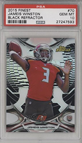 - Jameis Winston PSA GRADED 10 (Football Card) 2015 Topps Finest - [Base] - Hot Box Black Refractor #70