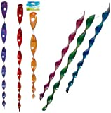 GARDEN WIND TWISTER CHARM HANGING SPINNING SPIRAL EFFECT DECOR SPINNER COLOURFUL