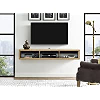 Martin Furniture IMSE360B Floating TV Console, 60, Burka Bark