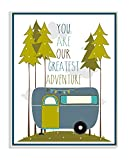 The Kids Room by Stupell You Are Our Greatest Adventure Art Wall Plaque, Blue/Green, 11 x 0.5 x 15, Proudly Made in USA