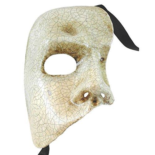 Cracked Phantom Of The Opera Fantasma dell Opera Masquerade Mask ()