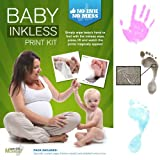 Inkless Wipe Hand & Foot Print Kit by Save The Moment - 2 Standard Coated Papers & 1 Inkless Wipe (Black)
