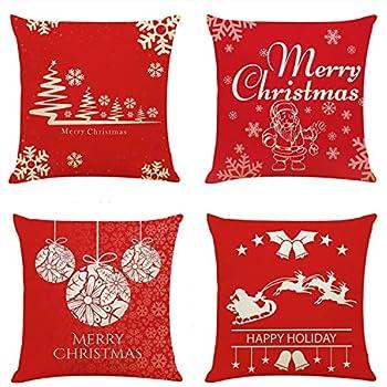 Amazon.com: Fundas de almohada de Navidad LUDILO 4 paquetes ...
