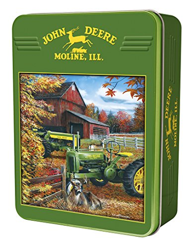 MasterPieces John Deere Deere Family - Row Crop Tractors 1000 Piece Tin Box Jigsaw Puzzle by Kevin Daniel