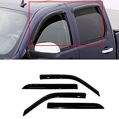Gldifa Sun/Rain Guard Vent Shade Window Visors For Dodge 09 14 Ram 1500