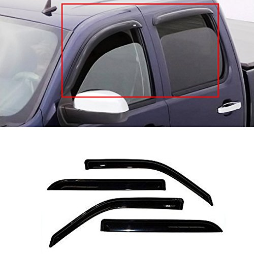 Gldifa Wind Deflector For 2004-2008 Ford F150/Lincoln Mark LT Super Crew Cab With 4 Full Size Doors Sun/Rain Guard Vent Window Visors 4pcs