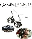 The Game of Thrones Khaleesi Targaryen Dragons J Hook Dangle Earrings with Gift Box by Athena Brand