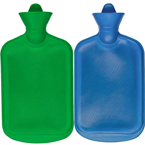 For Sale! SteadMax Hot Water Bottle, Natural Rubber -BPA Free- Durable Hot Water Bag for Hot Compres...