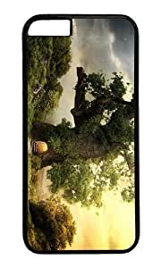 Adorable fantasy house tree Hard Case Protective Shell Cell Phone Cover For Apple Iphone 6 Plus (5.5 Inch) - PC Black