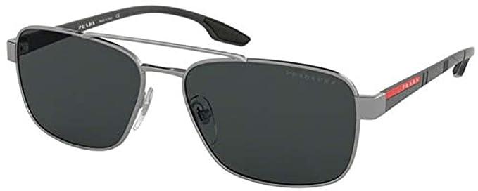 Prada Linea Rossa 0PS 51US Gafas de sol, Gunmetal, 59 para ...