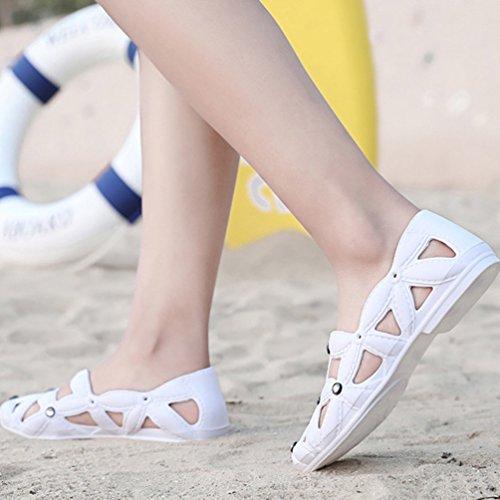 Gardening Hole Shoes Beach Clogs Unisex Lvguang Slip Breathable Womens On Soft Lightweight White Sandal wxqX81F0g
