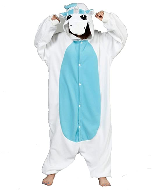 Samgu azul unicornio Unisex disfraz Anime animal cosplay Onesie pijamas de adulto pijama Cartoon Party