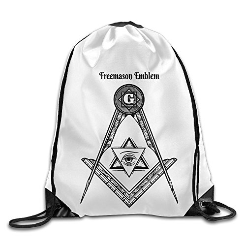MissMr Freemason Logo Square And Compass Belt Sports Backpack,Fashion Trend, Polyester Sports Bag,Net Red Part,Men's Handbag,Ladies,Teenager,Adult,Outdoor Work,Office,Lunch Box