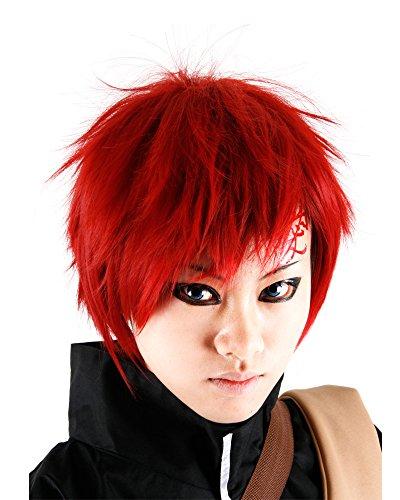 [Miccostumes Men's Naruto Gaara Cosplay Wig (Red)] (Miccostumes Gaara)