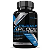 Muscle Xplode Nitric Oxide Booster Formula for Intra and Pre Workout with L Arginine to Enhance Endurance, Strength and Energy, Powerful Muscle Pumps - 120 Capsules