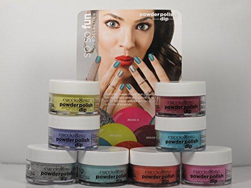 - Cuccio SO SO FUN Collection Nail Dipping Powder Polish Dip 8 Colors