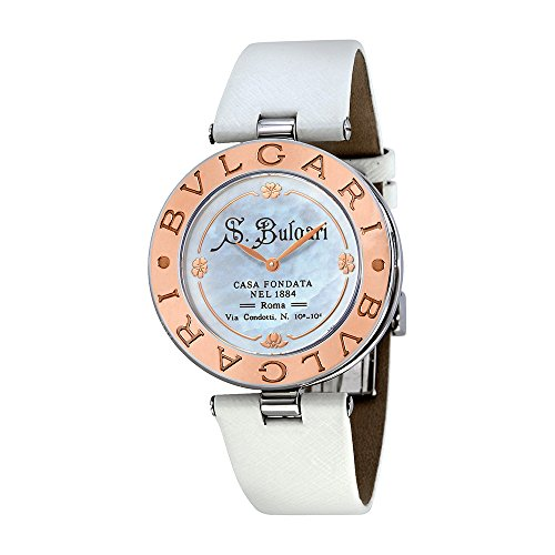 Bvlgari B. Zero1 White Dial18kt Rose Gold Ladies Watch 101737