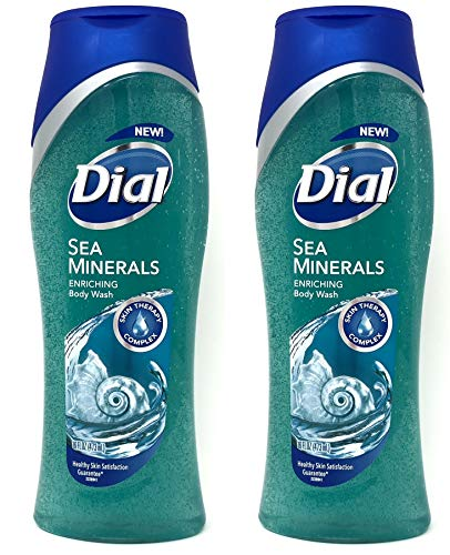 Dial Skin Therapy Sea Minerals Enriching Body Wash, 16 oz (Pack of 2)