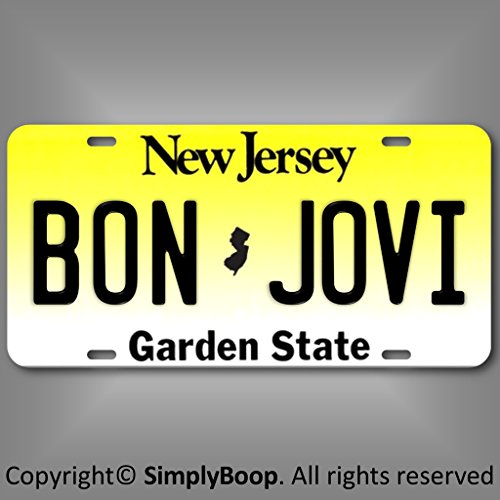 Forever Signs Of Scottsdale Bon Jovi Rock Group Band New Jersey Aluminum Vanity License Plate Tag 6