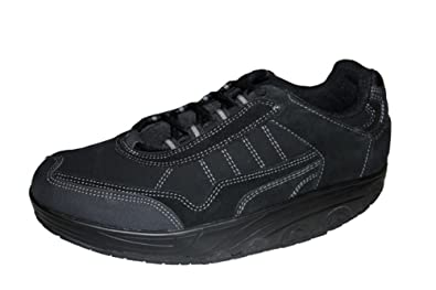ad83bc75047ee8 Damen Herren Aktivschuhe Freizeit Schuhe Lederschuhe Gesundheitsschuhe  Gondelschuhe Sneaker mit Spezialsohle für Sport und Freizeit SCHWARZ