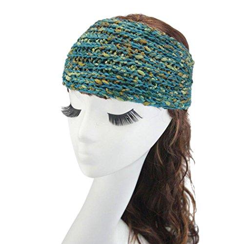 Tuscom Womens Winter Warm Knitted Empty Skull Beanie Headband(17.3×4.3