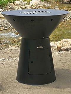 Remundi Barbacoa de carbón y Plancha con Control de Suministro de Aire de Acero Inoxidable y Cubo para Cenizas (95 x…