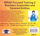 Hipaa Focused Training 2 Business Associates and Covered Entities, Farb, Daniel, 1932634355