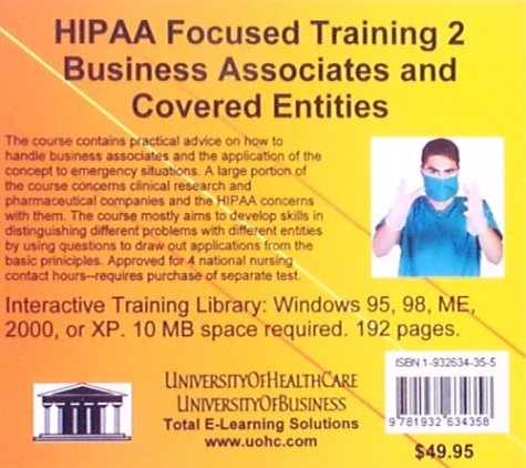 HIPAA Focused Training 2 Business Associates and Covered Entities (No. 2)