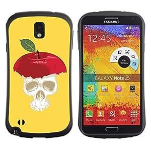 Hybrid Anti-Shock Bumper Case for Samsung Galaxy Note 3 / Apple Skull