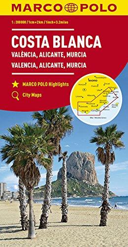 Marco Polo Costa Blanca - Valencia - Alicante - Murcia: Wegenkaart ...