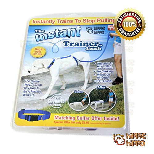[HIPPIE HIPPO Instant Trainer Dog Leash Trains Dogs 30 Lbs Stop Pulling As Seen On TV Dogwalk] (30 Second Costumes)