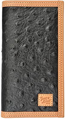 Tony Lama Black Western Rodeo Wallet