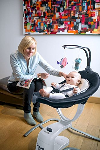 Babymoov Babyschaukel Swoon Motion Zink Schaukel// Wippe f/ür Babys Schlafposition 8 Schlaflieder// Naturger/äusche in MP3-Qualit/ät verstellbare R/ückenlehne inkl