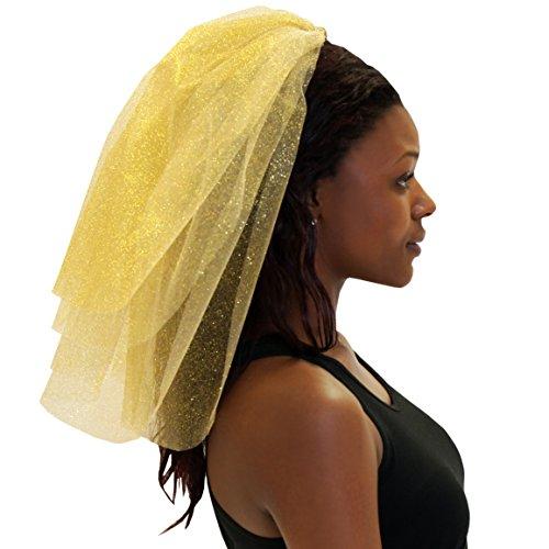 Premium SPARKLE VEIL - Bachelorette Accessories for the Bride to Be Gold