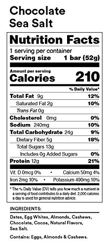 RXBAR, Best Seller Variety Pack, Protein Bar, 1.83 Ounce (Pack of 24), High Protein Snack, Gluten Free
