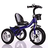 Little Bambino RideOn Pedal Tricycle Children Kids Smart Design 3 Wheeler | Blue | CE Approved Air Wheels Adjustable Seat Metal Frame Bell
