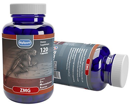 ZMG Zinc Methionine & Aspartate High Absorption Mg Supports Sleep, Energy and Muscle Strength With Vitamin B6, E and Folic Acid 120 Ct. 60 Servings.