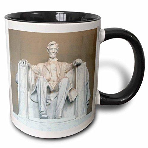 3dRose 88995_4 Abraham Lincoln Memorial, Washington DC-US09 RKL0011-Raymond Klass Two Tone Mug, 11 oz, -